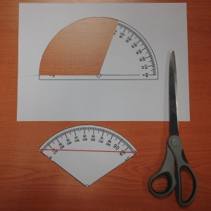 3. Cut out the required angle from 0 until the solid line at 110 degrees.